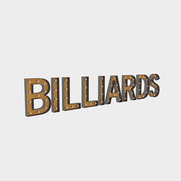 Bllard Sign With Bulb