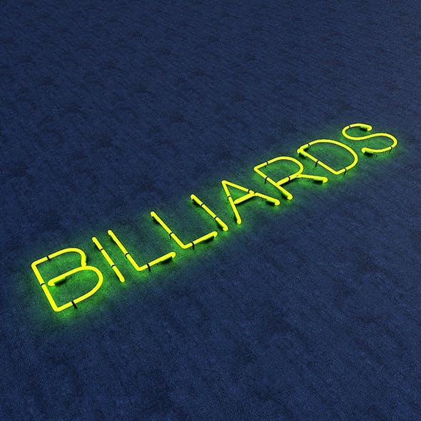 Bllards Neon Sign