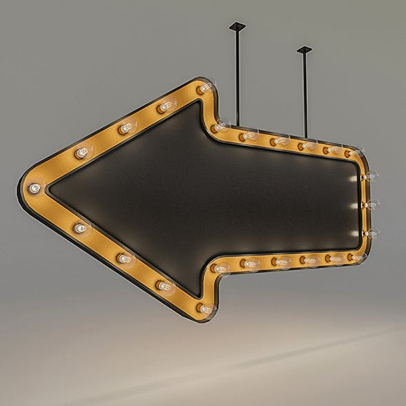 Light Bulb Loft Signage - 3DOcean Item for Sale