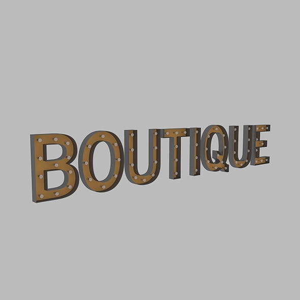 Boutuque Neon Sign