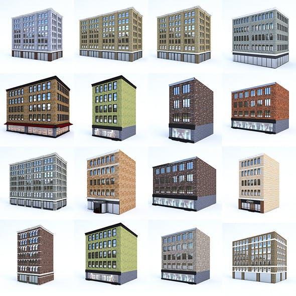 3D Buildings City Set - 3DOcean Item for Sale