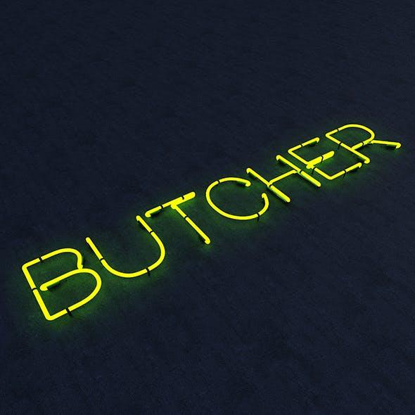 Butcher Neon Sign