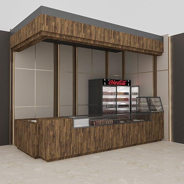 3D Cafe Model - 3DOcean Item for Sale