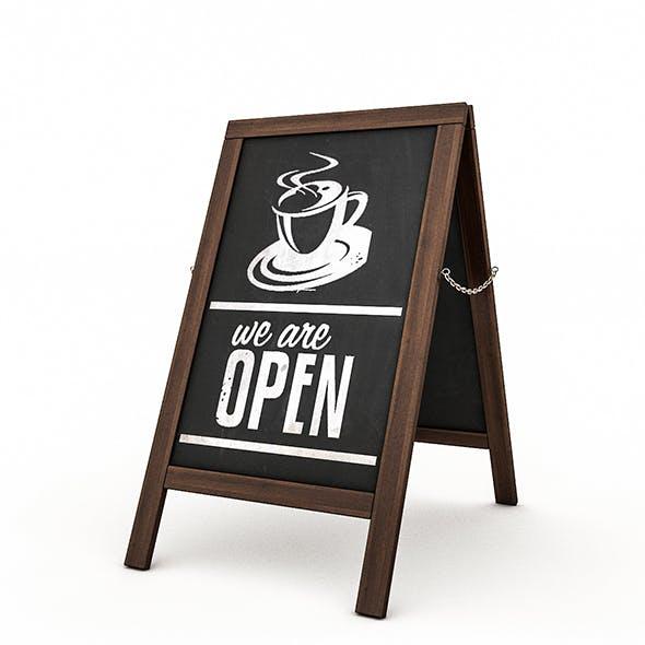Cafe Sign - 3DOcean Item for Sale