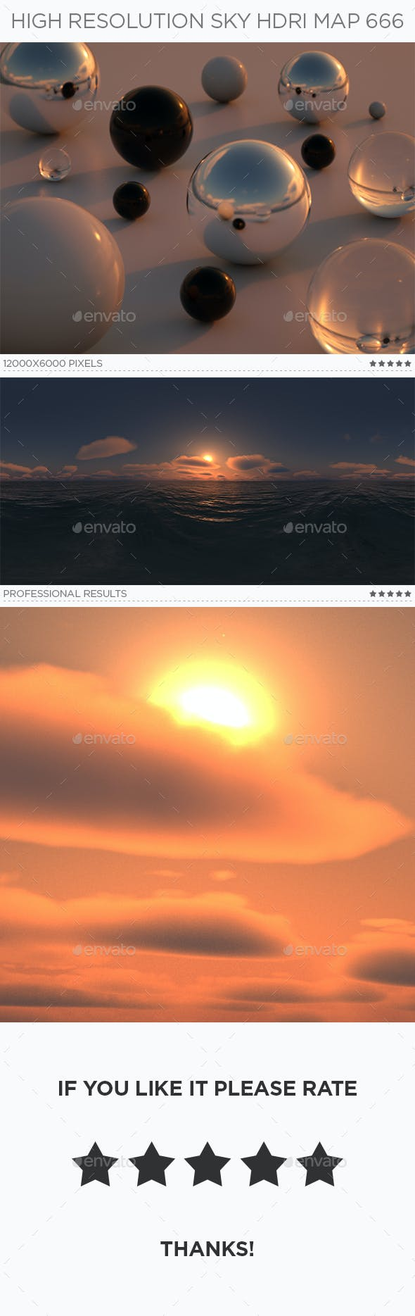 High Resolution Sky HDRi Map 666 - 3DOcean Item for Sale