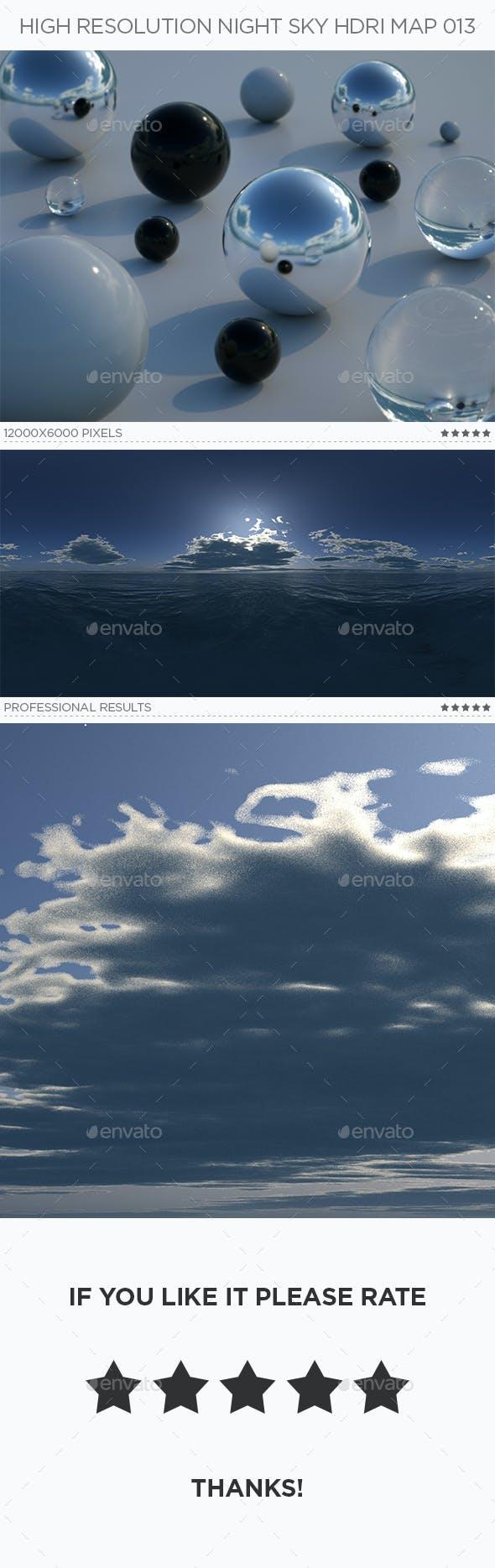 High Resolution Night Sky HDRi Map 013 - 3DOcean Item for Sale