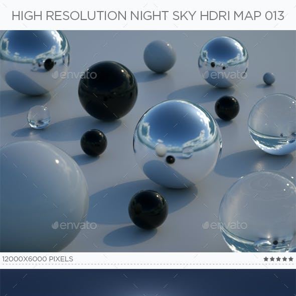 High Resolution Night Sky HDRi Map 013