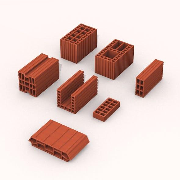 Bricks kit construction pieces - 3DOcean Item for Sale