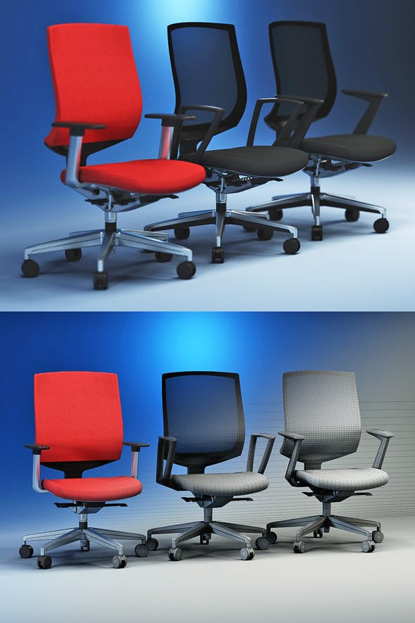 Quality 3dmodel of modern chairs Veo. Kloeber - 3DOcean Item for Sale