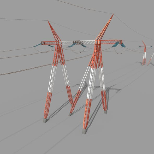 Electricity Pole 25 - 3DOcean Item for Sale