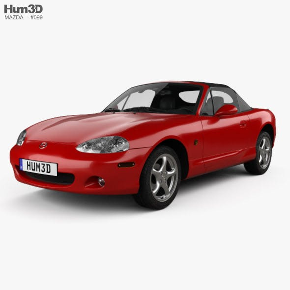 Mazda MX-5 convertible with HQ interior 1998 - 3DOcean Item for Sale