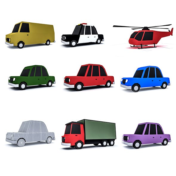 Cartoon vehicle Set
