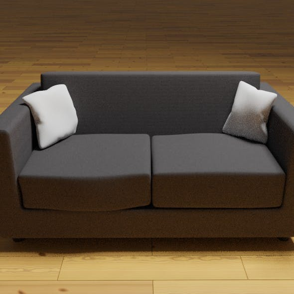 Two Seater Couch - 3DOcean Item for Sale