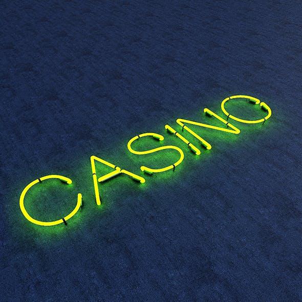 Casino Neon Sign - 3DOcean Item for Sale