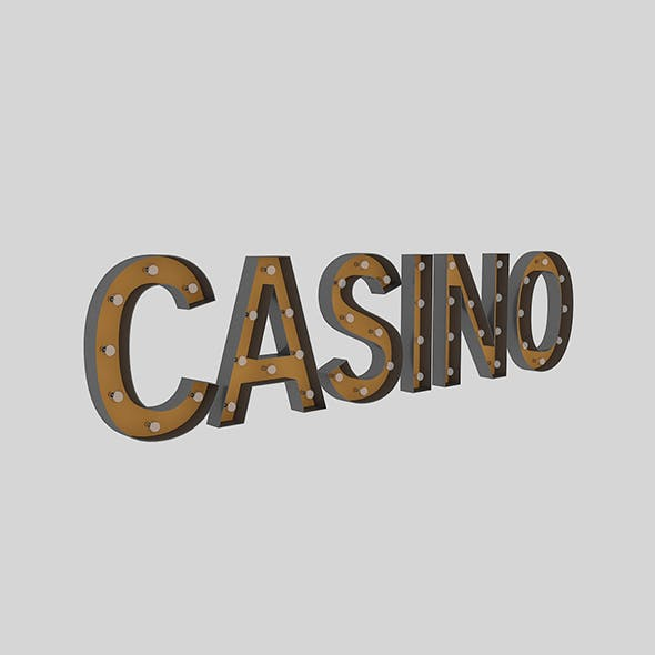 Casino Sign With Bulb - 3DOcean Item for Sale