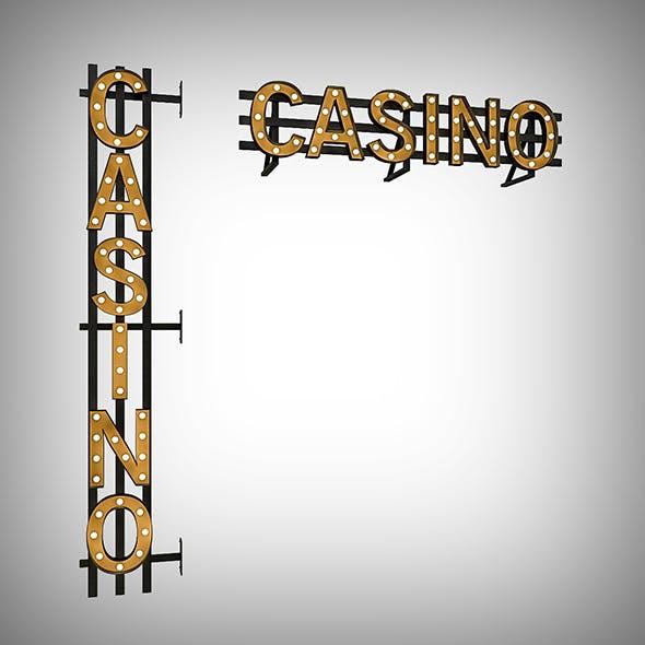 Casinor Bulb Sign - 3DOcean Item for Sale