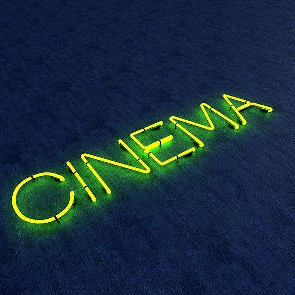 Cinema Neon Sign - 3DOcean Item for Sale