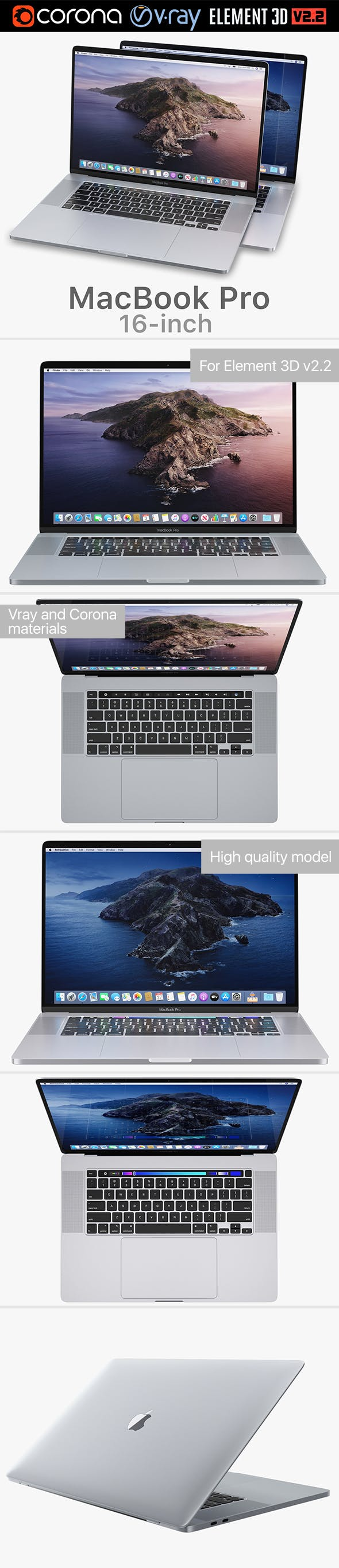 Apple MacBook Pro 16-inch 2019 - 3DOcean Item for Sale