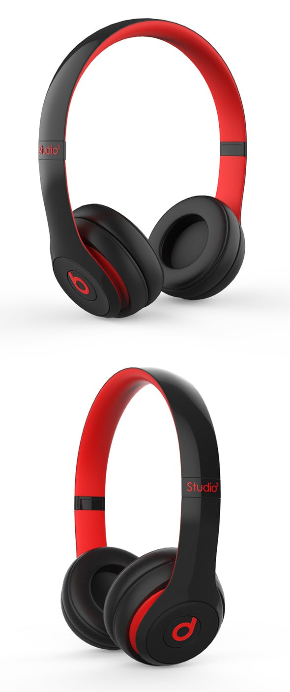 Beats Red - Black - 3DOcean Item for Sale
