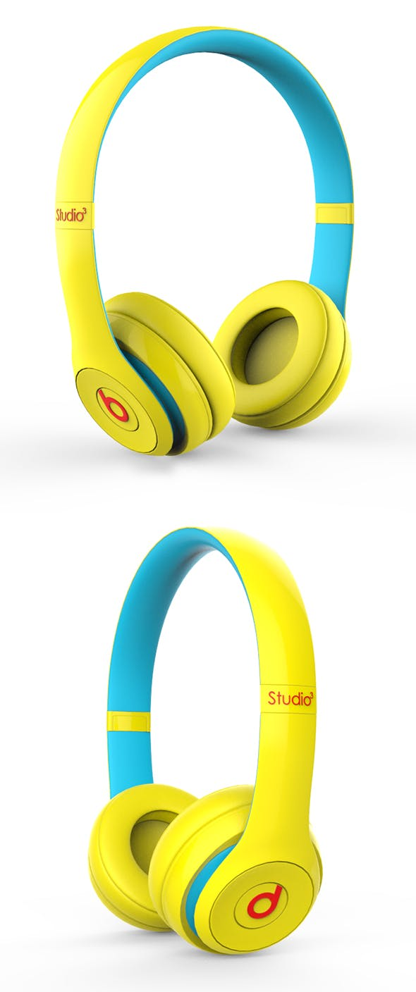 Beats Blue - Yellow - 3DOcean Item for Sale