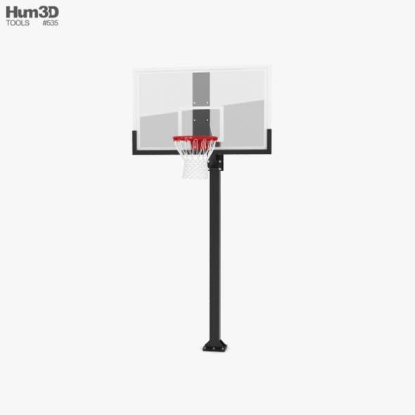 Hercules Fixed Basketball Hoop - 3DOcean Item for Sale