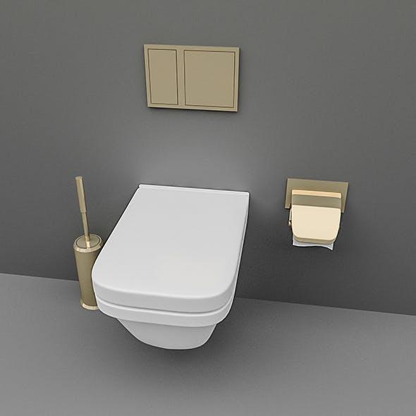Toilet Set - 3DOcean Item for Sale