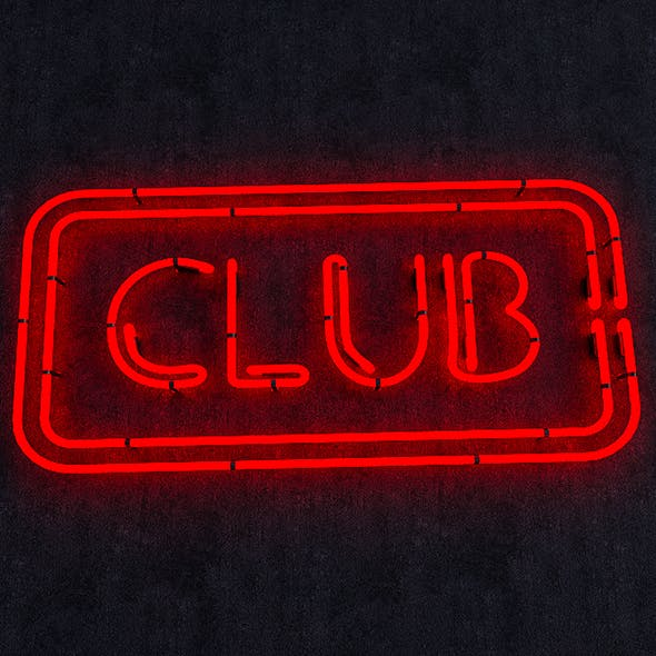 Club Neon Sign - 3DOcean Item for Sale