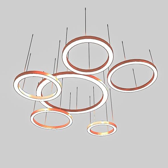 3D Circle Lamp Set - 3DOcean Item for Sale
