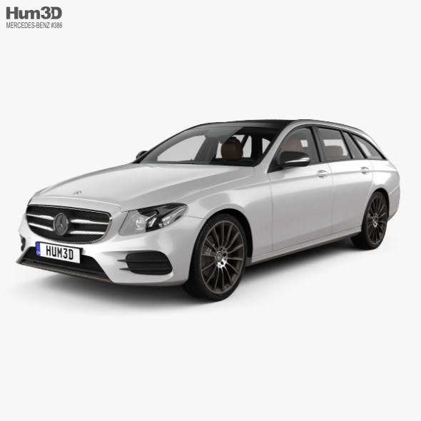 Mercedes-Benz E-class AMG-Line estate with HQ interior 2016 - 3DOcean Item for Sale