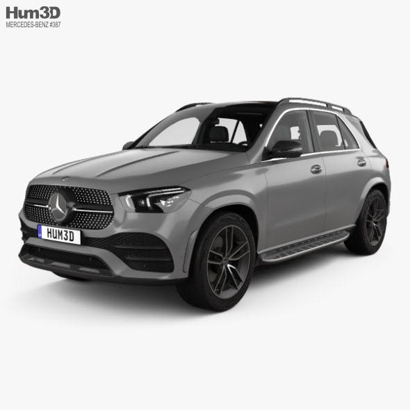 Mercedes-Benz GLE-class AMG-Line with HQ interior 2019 - 3DOcean Item for Sale