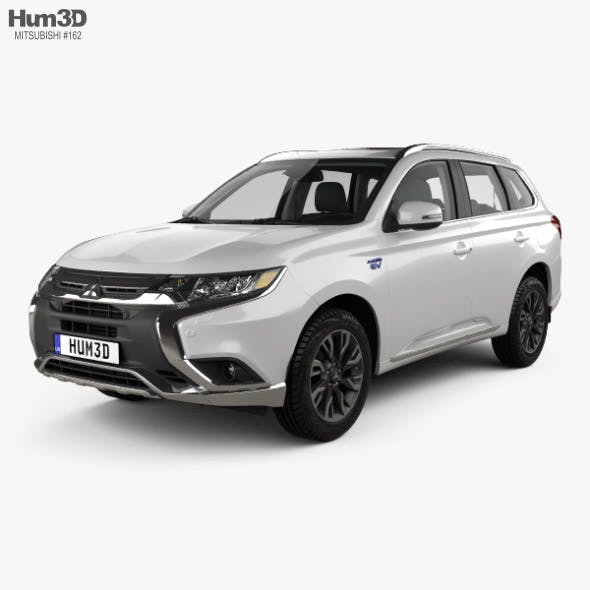 Mitsubishi Outlander PHEV with HQ interior 2015 - 3DOcean Item for Sale