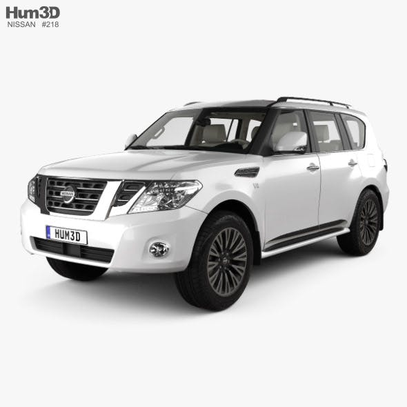 Nissan Patrol AE-spec with HQ interior 2014 - 3DOcean Item for Sale