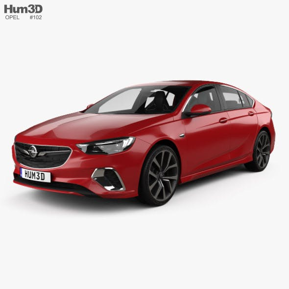 Opel Insignia GSi with HQ interior 2017 - 3DOcean Item for Sale