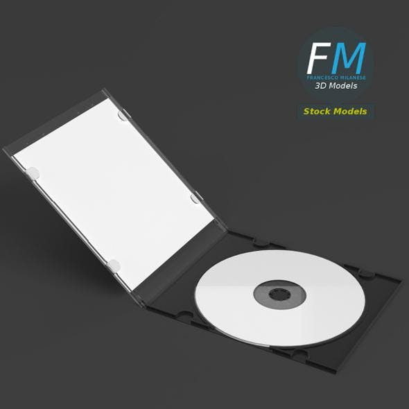CD slim package mockup - 3DOcean Item for Sale