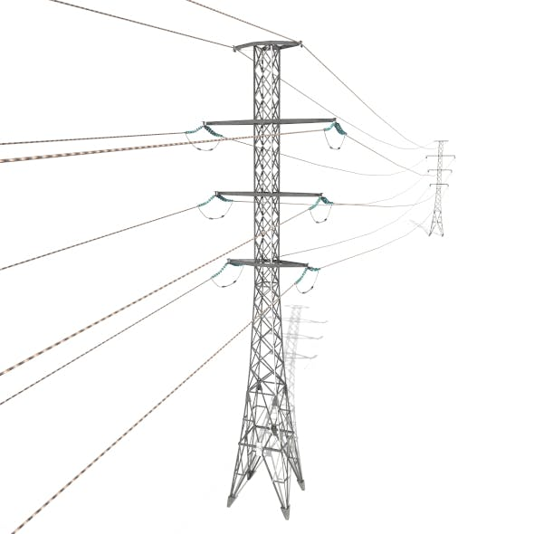 Electricity Pole 26 - 3DOcean Item for Sale