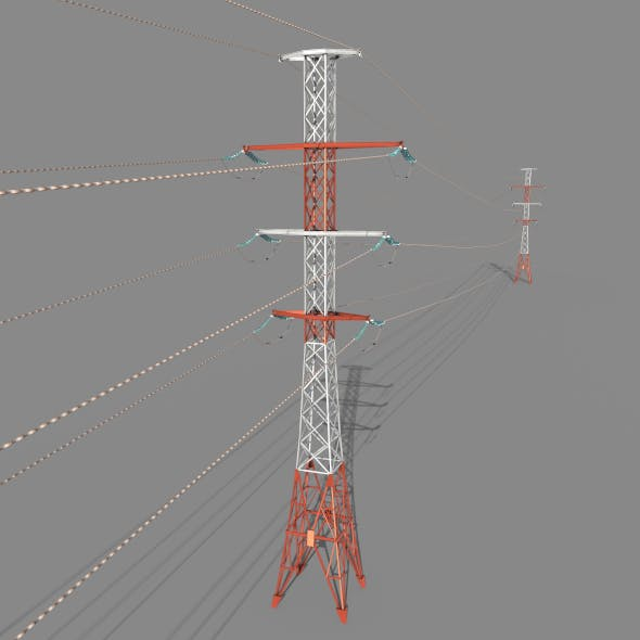 Electricity Pole 27 - 3DOcean Item for Sale