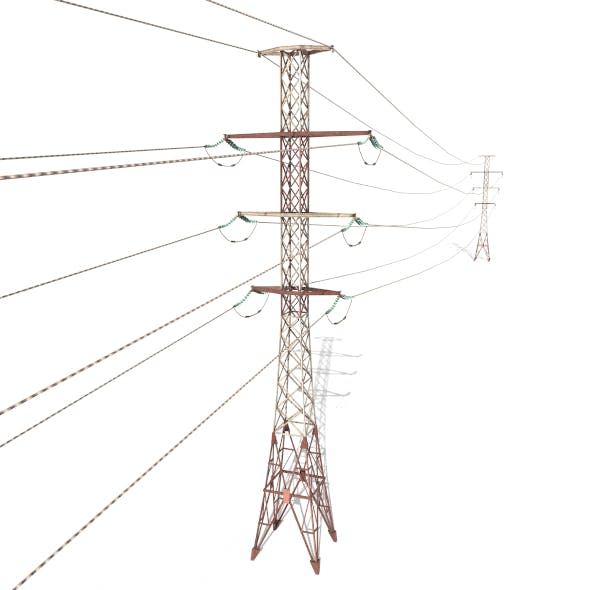 Electricity Pole 27 Weathered - 3DOcean Item for Sale