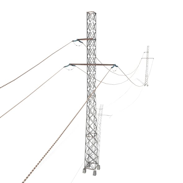 Electricity Pole 28 - 3DOcean Item for Sale