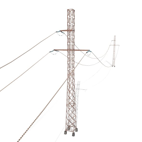 Electricity Pole 28 Weathered - 3DOcean Item for Sale