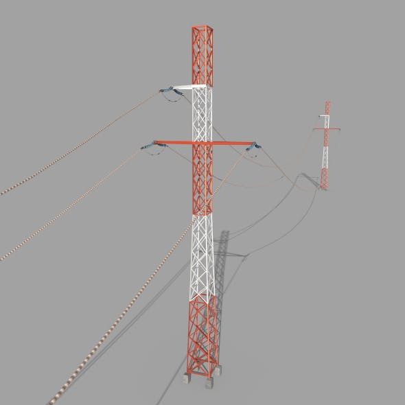 Electricity Pole 29 - 3DOcean Item for Sale