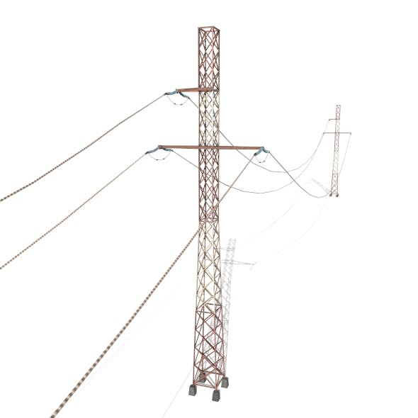 Electricity Pole 29 Weathered - 3DOcean Item for Sale
