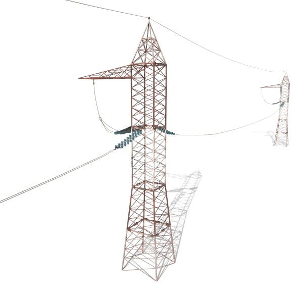 Electricity Pole 30 Weathered - 3DOcean Item for Sale