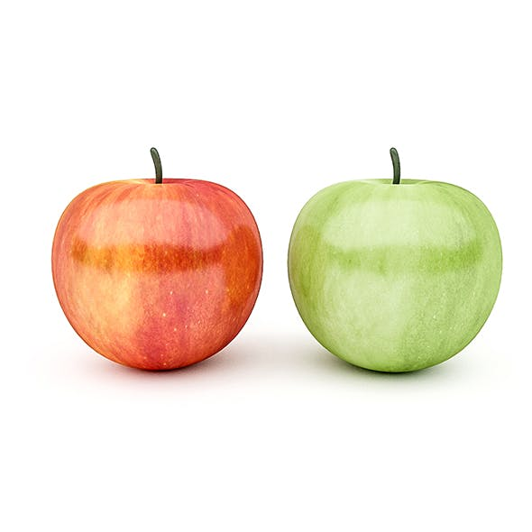 3D Apple Model - 3DOcean Item for Sale