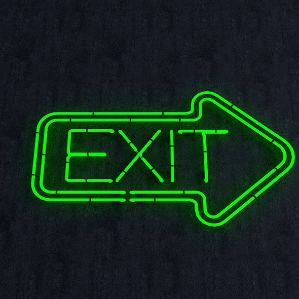 Exit Neon Sign - 3DOcean Item for Sale