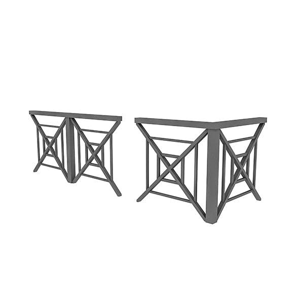 3D black Railing Modular - 3DOcean Item for Sale