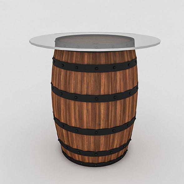 Cask Table Bistro - 3DOcean Item for Sale