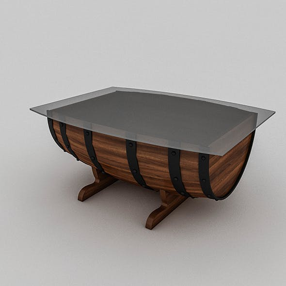 Cask Table - 3DOcean Item for Sale