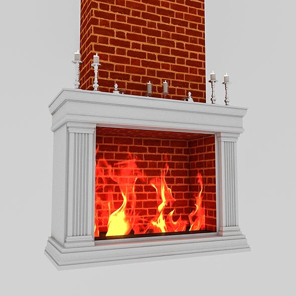 fireplace 01 - 3DOcean Item for Sale