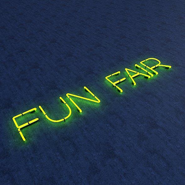 Funfair Neon Sign - 3DOcean Item for Sale