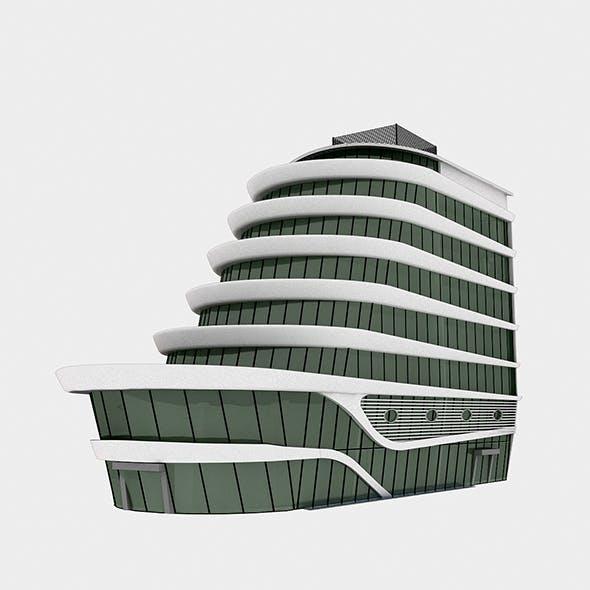Plaza Building - 3DOcean Item for Sale